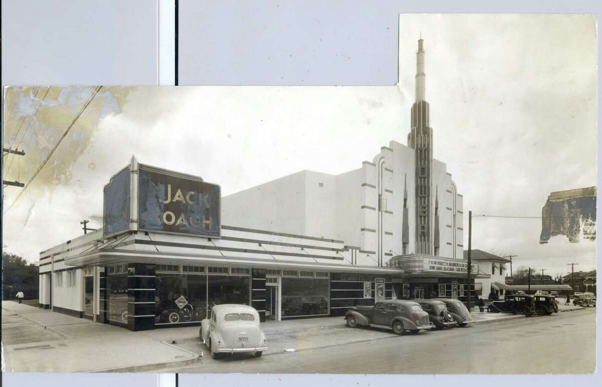 """The Tower Theatre, circa 1936, announced """"52ND STREET"""" on marquee."""
