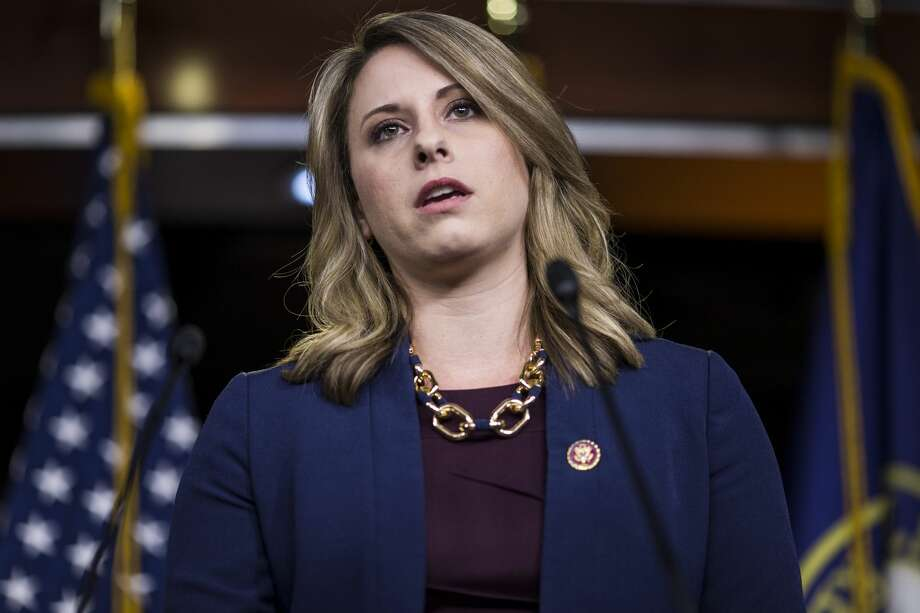 WASHINGTON, DC - APRIL 09: Rep. Katie Hill (D-CA) speaks during a news conference on April 9, 2019 in Washington, DC. House Democrats unveiled new letters to the Attorney General, HHS Secretary, and the White House demanding the production of documents related to Americans health care in the Texas v. United States lawsuit.  (Photo by Zach Gibson/Getty Images) Photo: Zach Gibson/Getty Images