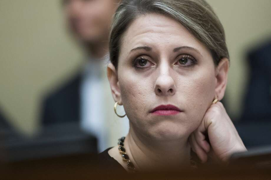 UNITED STATES - MARCH 14: Rep. Katie Hill, D-Calif., is seen during a House Oversight and Reform Committee hearing in Rayburn Building to discuss preparations for the 2020 Census and citizenship questions on Thursday March 14, 2019. Commerce Secretary Wilbur Ross testified. (Photo By Tom Williams/CQ Roll Call) Photo: Tom Williams/CQ-Roll Call, Inc Via Getty Imag