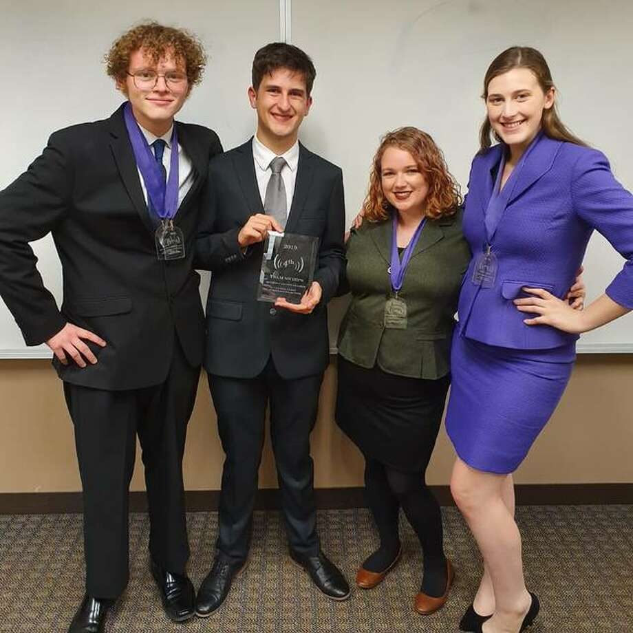 Pictured (left to right) are Brayden Allen, Peter Dimitrov, Allyson Moulton and Emily Brooks. Photo: Submitted