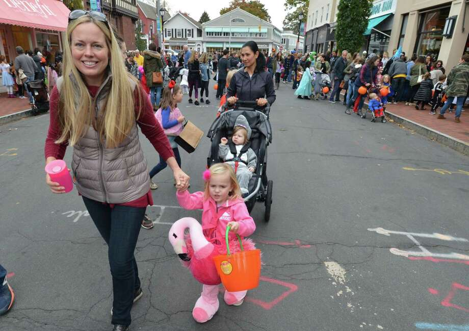 The Westport Parks and Recreation Department, The Downtown Merchants Association and Westport P.A.L. annual Halloween Parade in downtown Westport Conn. on Thursday October 26, 2017 Photo: Alex Von Kleydorff / Hearst Connecticut Media / Norwalk Hour
