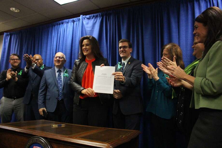 Governor Gretchen Whitmer signed House Bill 4325 to update the scope of practice for counselors in the Public Health Code. Photo: (Courtesy Photo)