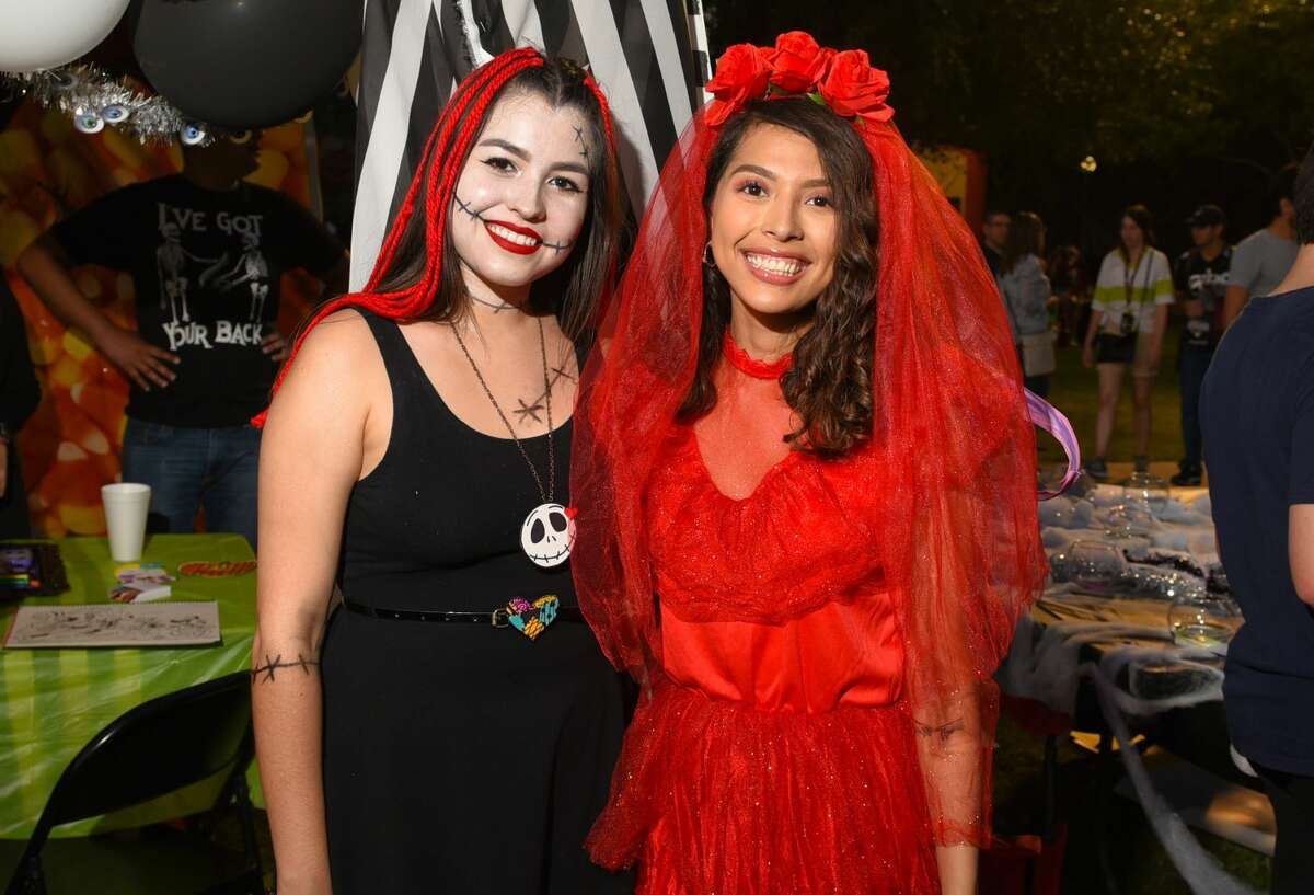 Families and students show off their costumes at the TAMIU Halloween Fest 2019.