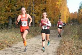 Benzie Central runners compete in the Division 3 girls race at regionals on Oct. 26.