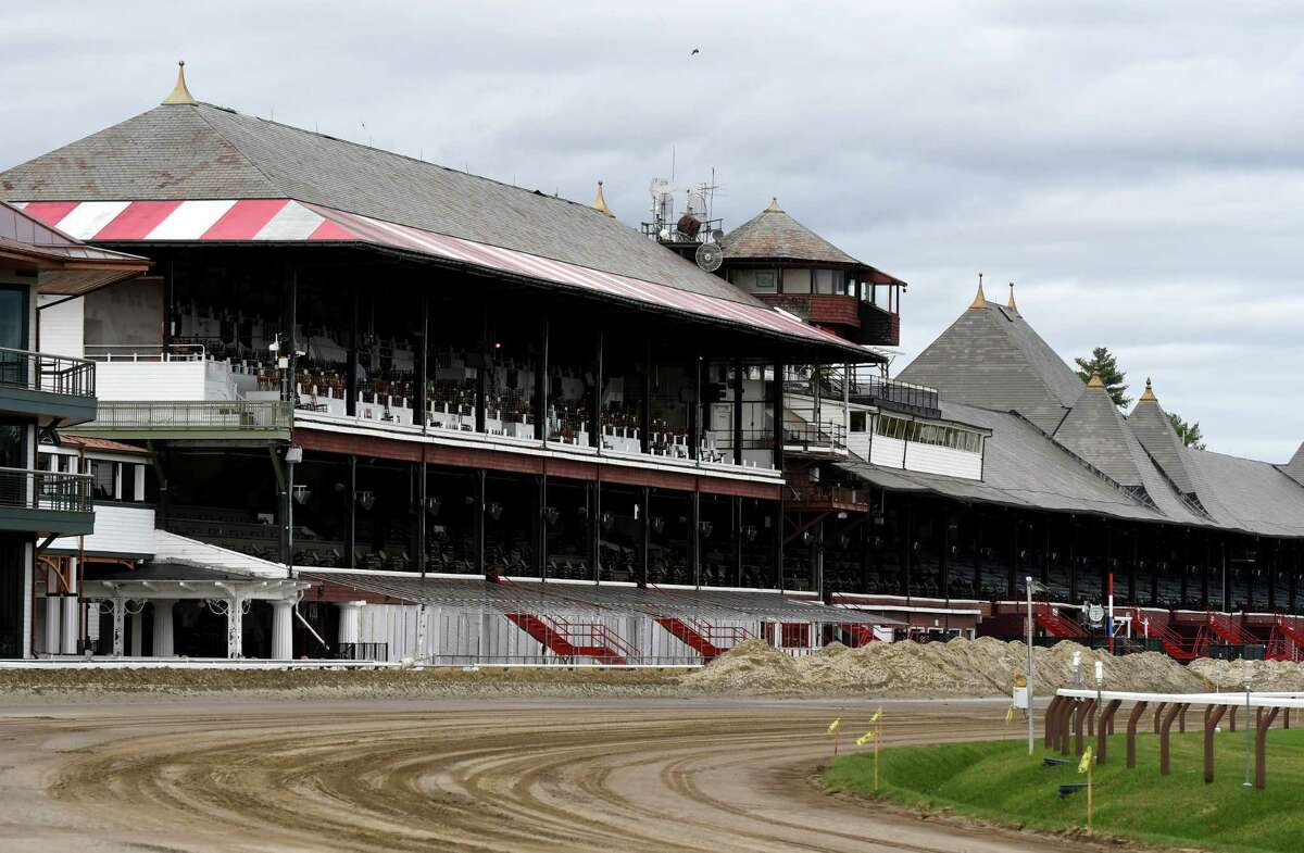 View of the Clubhouse at Saratoga Race Course on Tuesday, Oct. 29, 2019, in Saratoga Springs, N.Y. NYRA plans repeat last year's eight week schedule with Monday and Tuesday dark in 2020. (Will Waldron/Times Union)