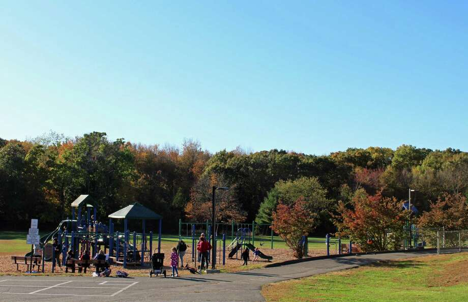 Riverfield's playground is fully open for use. Photo: Rachel Scharf / Hearst Connecticut Media