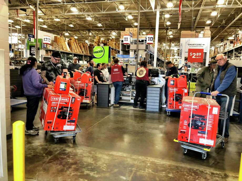 Lowe's in Cotati received a fresh delivery of generators, but they are quickly being purchased. One shopper reported the lines cover the length of the building on Tuesday, Oct. 29, 2019. Photo: Sandy Warn