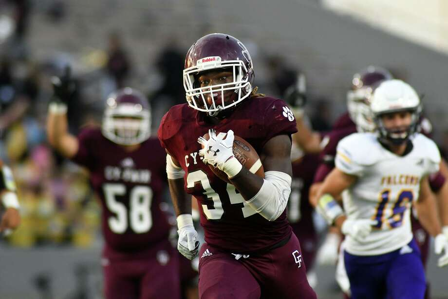 Cy-Fair junior running back L.J. Johnson was voted the District 17-6A Offensive MVP. Photo: Jerry Baker, Houston Chronicle / Contributor / Houston Chronicle