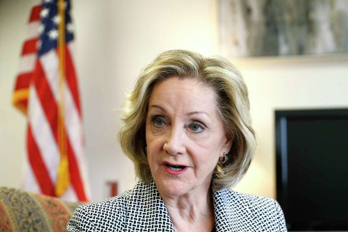 Harris County District Clerk Marilyn Burgess, shown here in May 2019, said the county will speed up its reporting of criminal convictions to a Texas Department of Public Safety database that is used for background checks for gun purchasers.
