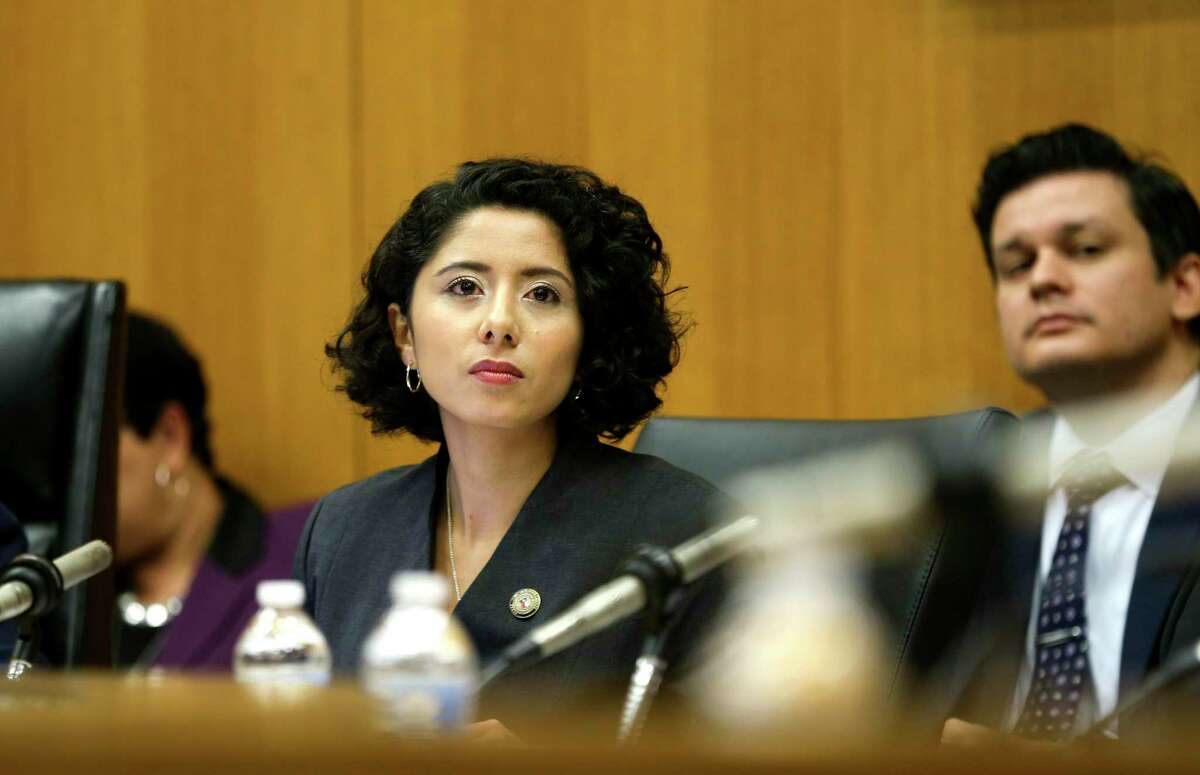 Harris County Judge Lina Hidalgo, shown her in January 2019, announced for measures aimed at curbing gun violence Tuesday, saying the county needed to take action because the state and federal governments have failed to do so.