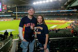 Astros fans prepare for Game 6 of the World Series at Minute Maid Park on Tuesday, Oct. 29, 2019, in Houston.