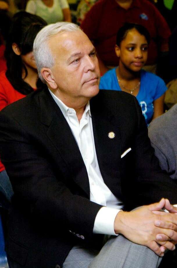 Lt Governor Michael Fedele listens to the fifth graders in IXCEL Summer Camp gubernatorial debate at the Yerwood Center in Stamford, Conn. on Monday August 2, 2010. Photo: Dru Nadler, ST / Stamford Advocate