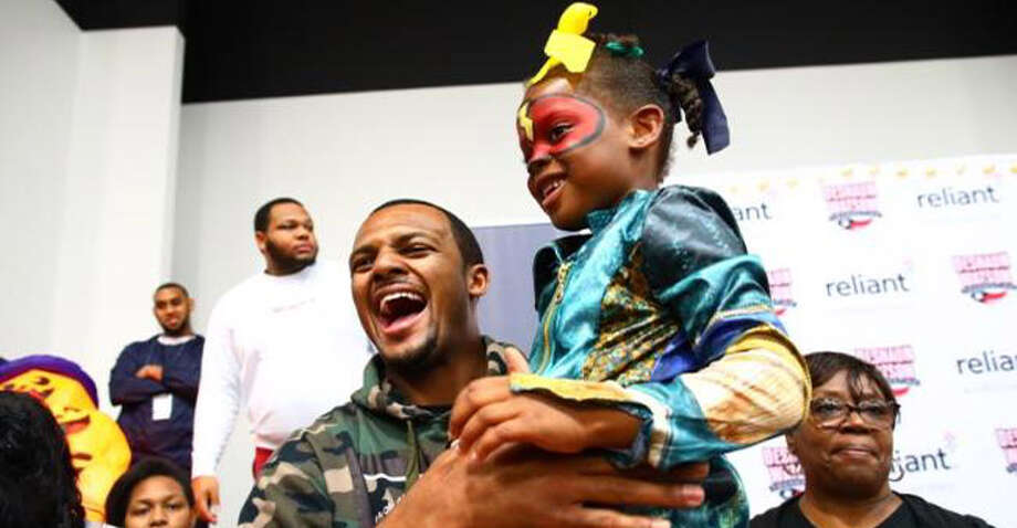 Texans quarterback Deshaun Watson at his inaugural charity event at the Pro-Vision Charter School on Tuesday, Oct 29, 2019. Photo: Texans