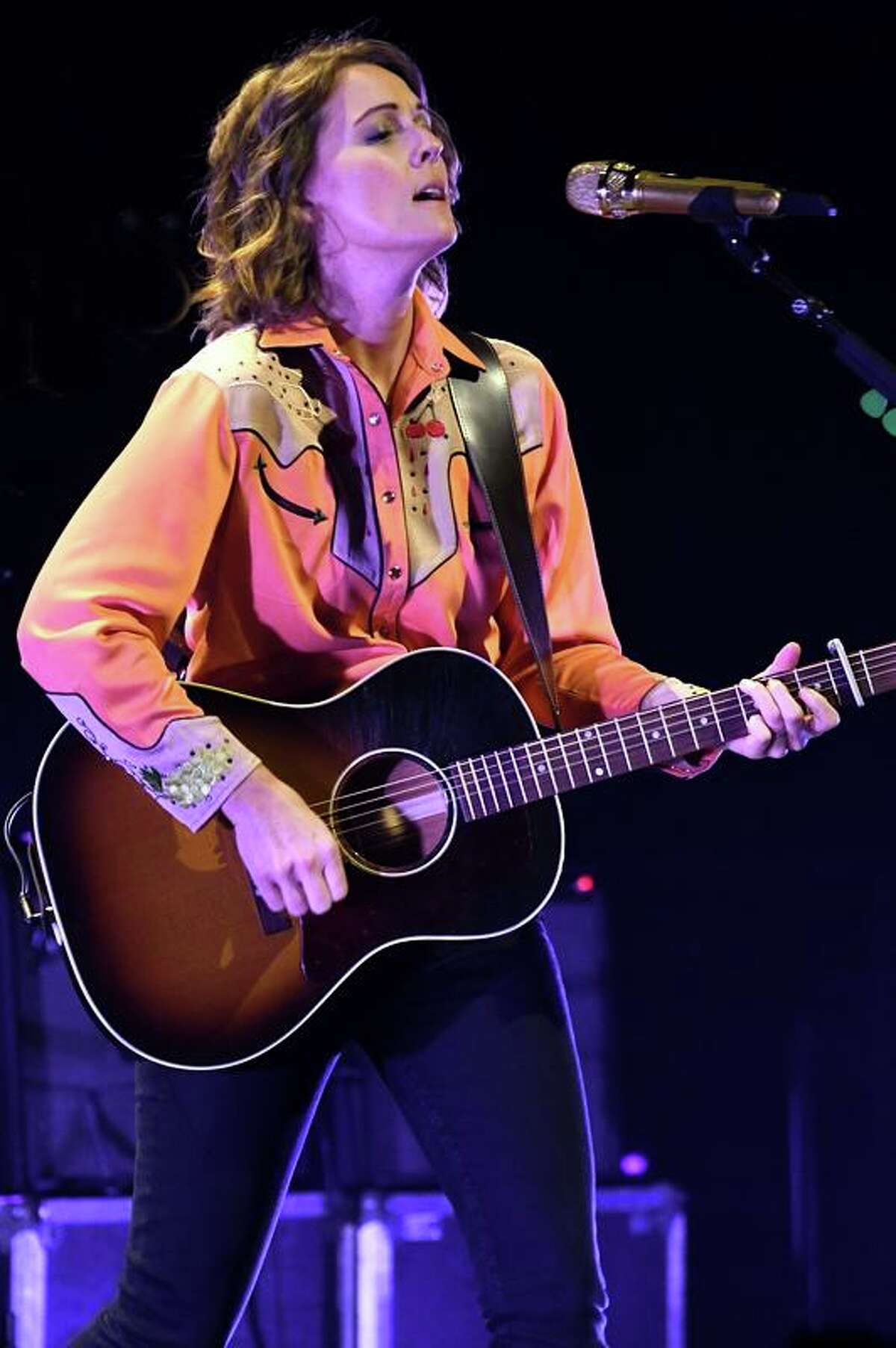 Musician Brandi Carlile is shown performing to capacity crowd in the Grand Theater at the Foxwoods Resort Casino on Oct. 24. The Seattle based singer's career is on a serious roll. Earlier this year, she won three Grammy Awards for her most recent album,
