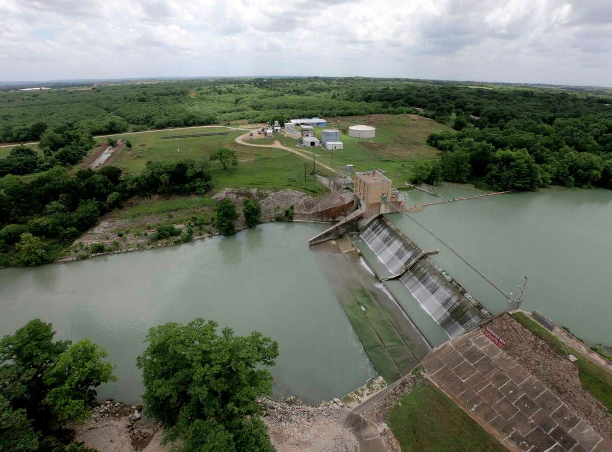 The dam that forms Lake Placid is seen in May. This is one of four remaining lakes under the Guadalupe-Blanco River Authority's supervision. A spill gate at Lake Dunlap's dam failed in May, draining most of its water. A similar incident happened at Lake Wood in 2016.