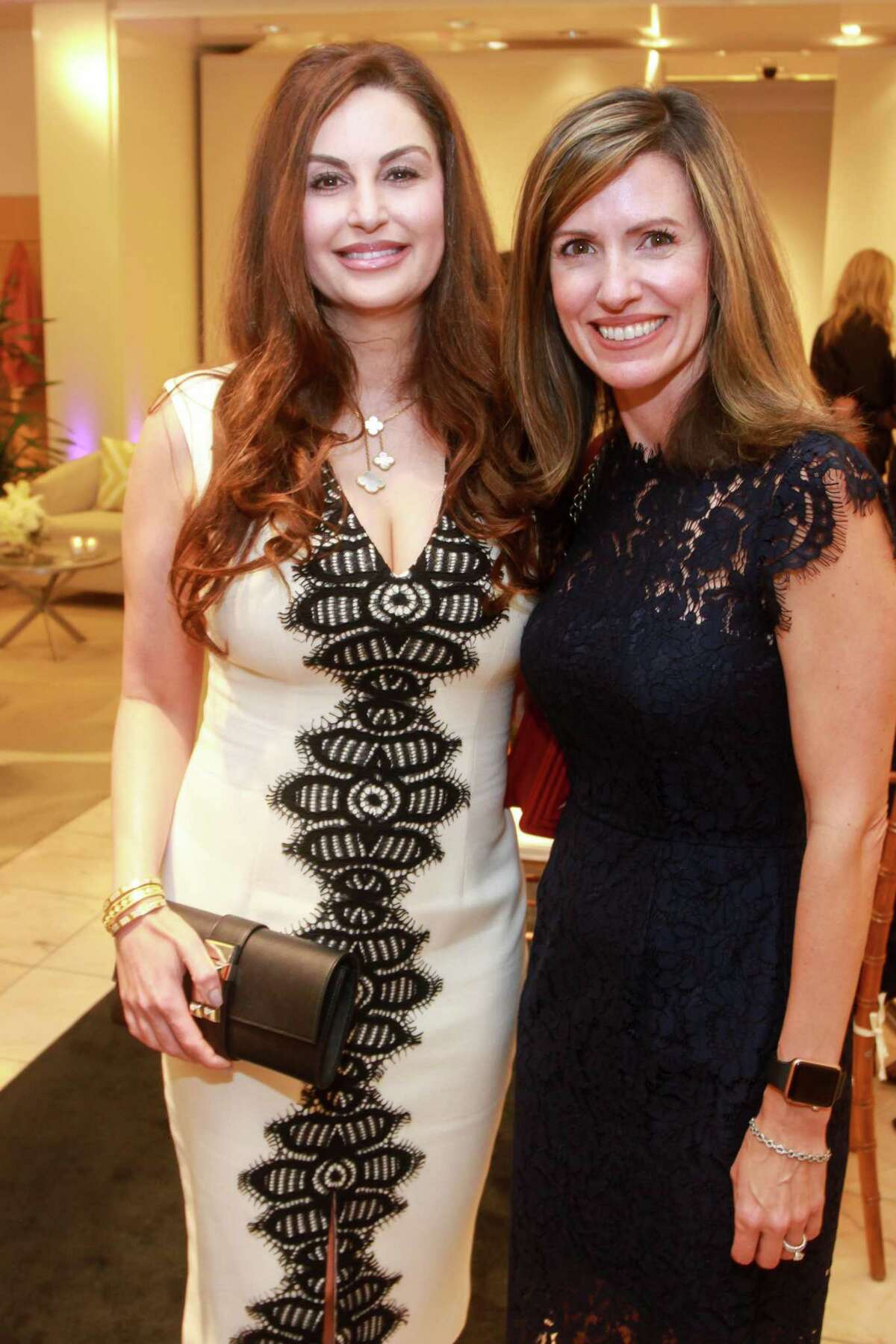 Brigitte Kalai, left, and Sara McEown at the Houston Chronicle Best Dressed Announcement Party at Neiman Marcus on October 29, 2019.