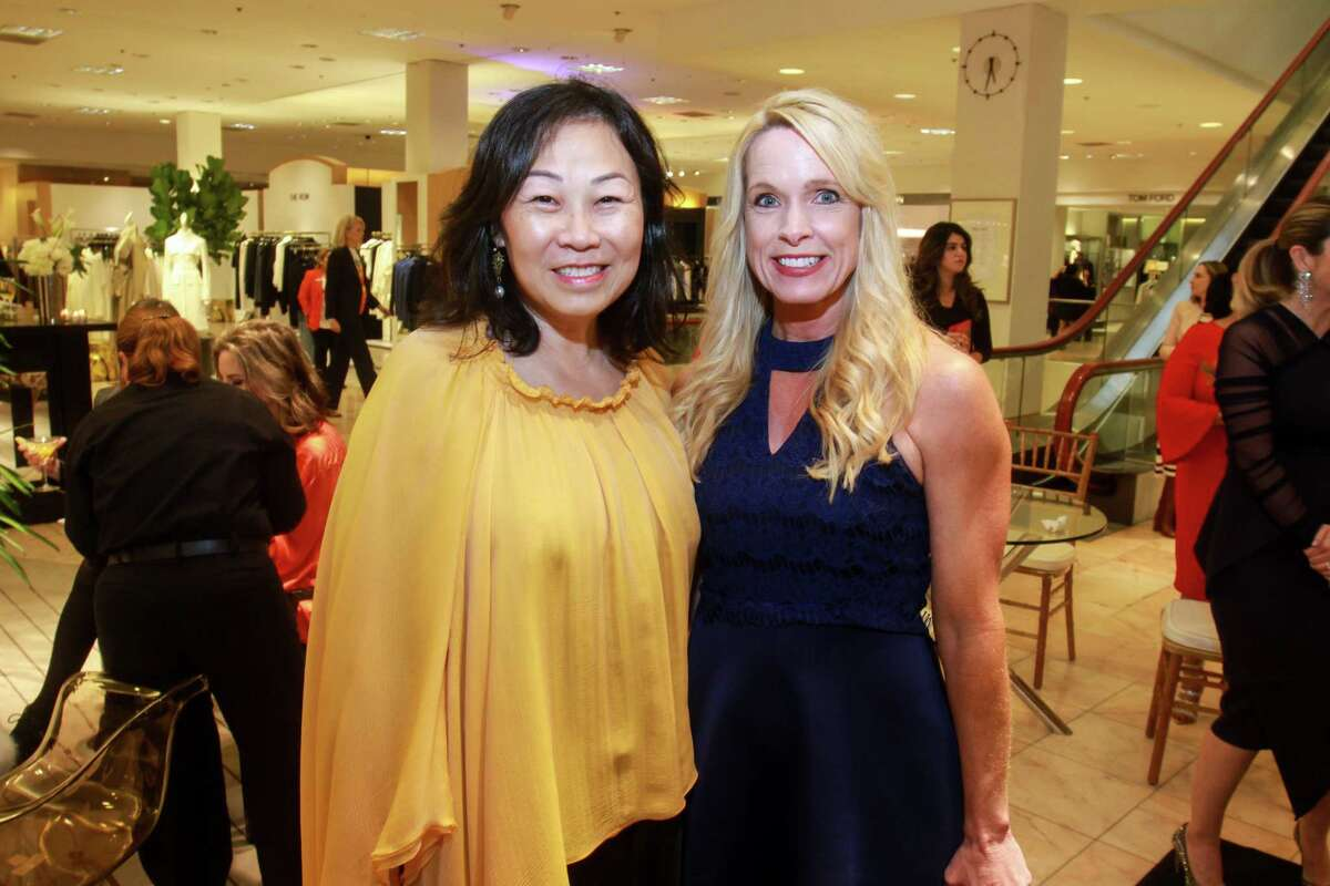 Grace Lynn, left, and Sandy Payton at the Houston Chronicle Best Dressed Announcement Party at Neiman Marcus on October 29, 2019.