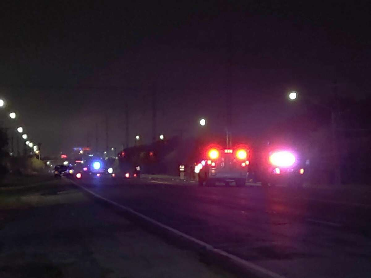 A woman was killed Tuesday when she was struck by a van in the 5800 block of Old Highway 90.