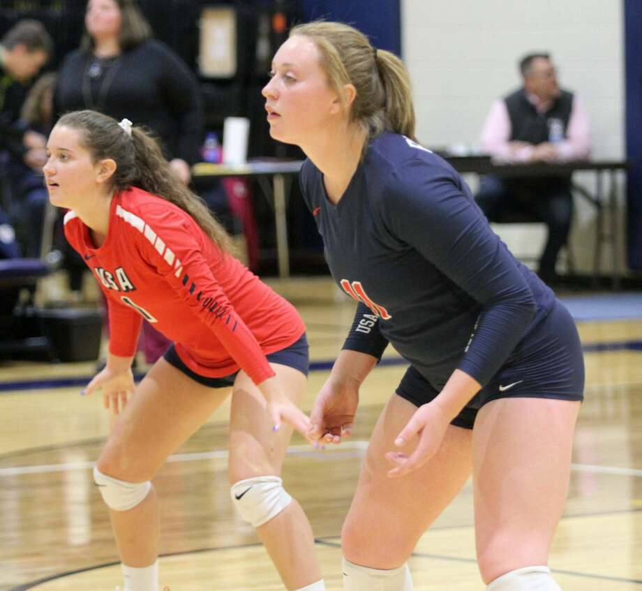 The USA Patriots secured a five-set win over Bad Axe on the road on Tuesday, Oct. 29. Photo: Eric Rutter / Huron Daily Tribune