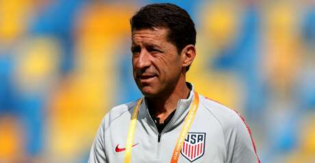 GDYNIA, POLAND - JUNE 08: Head coach Tab Ramos of USA is seen during the 2019 FIFA U-20 World Cup Quarter Final match between USA and Ecuador at Gdynia Stadium on June 08, 2019 in Gdynia, Poland. (Photo by Lars Baron - FIFA/FIFA via Getty Images)