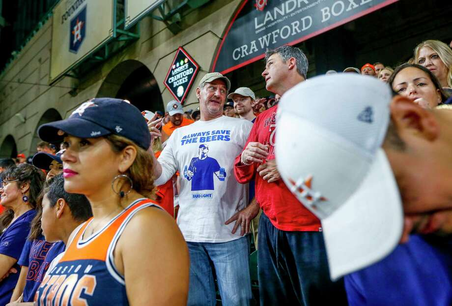PHOTOS: More of Jeff Adams at Game 6 in Houston Jeff Adams, who was hit by a home run ball while holding two beers during Game 5 of the World Series in Washington, D.C., watches Game 6 of the World Series at Minute Maid Park on Tuesday, Oct. 29, 2019, in Houston. Browse through the photos above for more of Jeff Adams at Game 6 in Houston ... Photo: Jon Shapley, Houston Chronicle / Staff Photographer / © 2019 Houston Chronicle