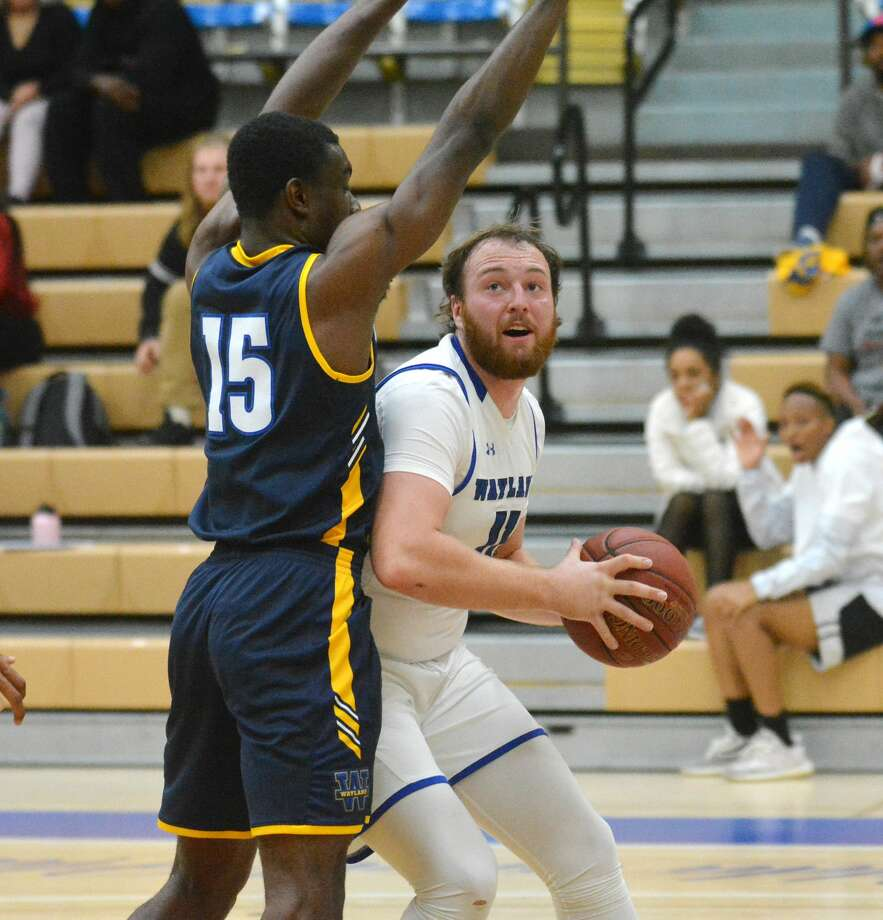 Senior forward Jack Nobles has given himself the goal of being an All-American, which could go a long way in getting the Wayland Baptist Men's basketball team back atop the Sooner Athletic Conference. Photo: Nathan Giese/Planview Herald