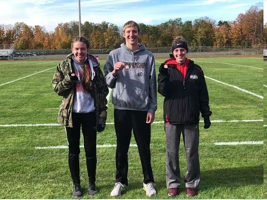Regional medalists were, from left, Abbigail Kiaunis, Calvin Rohde and Taylor Harrison. (Courtesy photo)