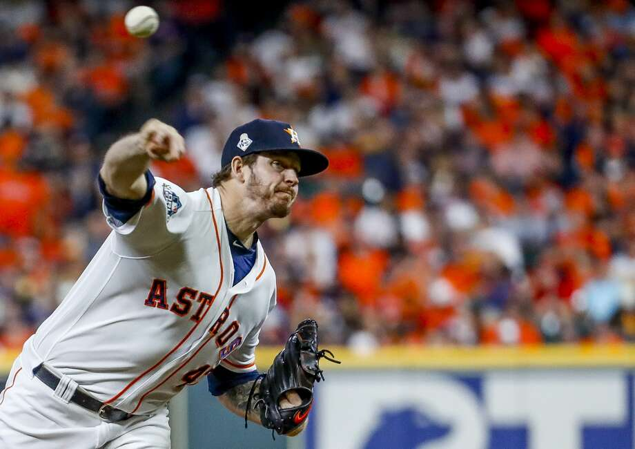 PHOTOS: Astros players' contract situation during 2019-20 offseason Houston Astros relief pitcher Chris Devenski (47) pitches during the ninth inning of Game 6 of the World Series at Minute Maid Park on Tuesday, Oct. 29, 2019, in Houston. >>>A look at the contract situation for each Houston Astros player during this offseason ... Photo: Brett Coomer/Staff Photographer