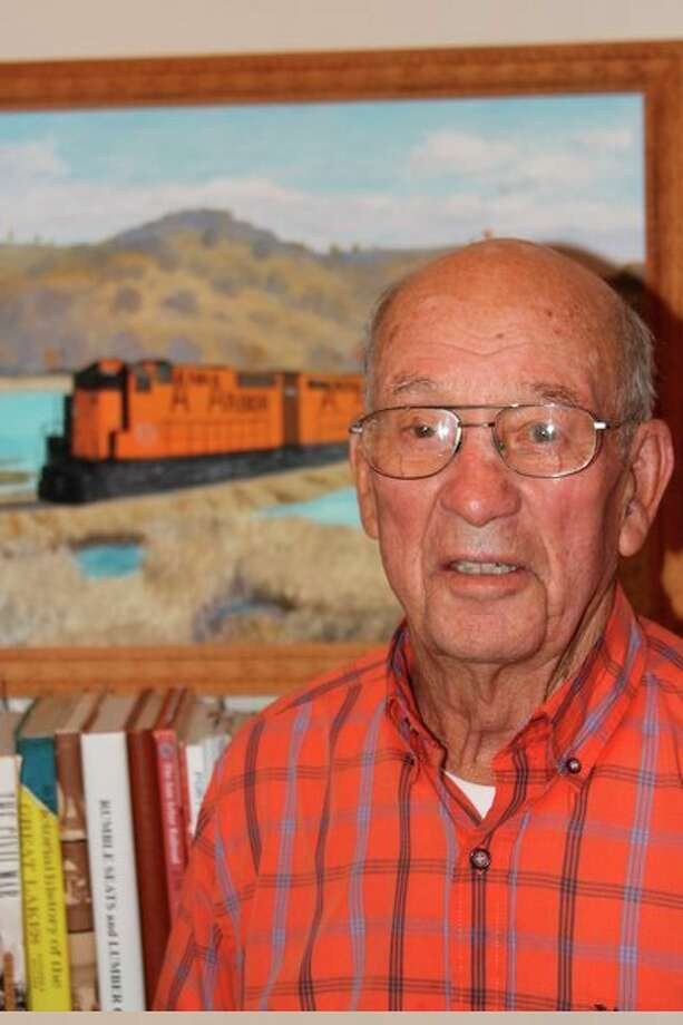 James Gilbert worked at the Ann Arbor Railroad rail yard in Elberta for 28 years, where he developed adeep interest in the car ferries. (Photo/Colin Merry)