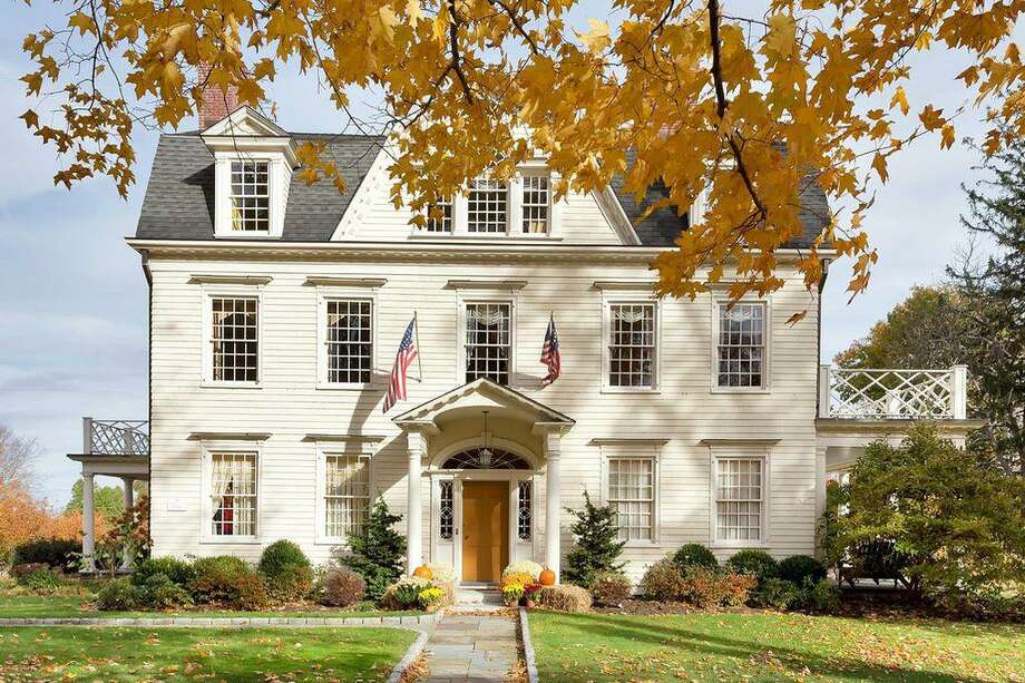 The house at 114 Main Street was built in 1740 by David Hoyt. The property boasts eight beds and nine baths. According to an application submitted to the town's Planning and Zoning Commission, it could be repurposed into a bed and breakfast. Photo: Douglas Elliman / Zillow.com