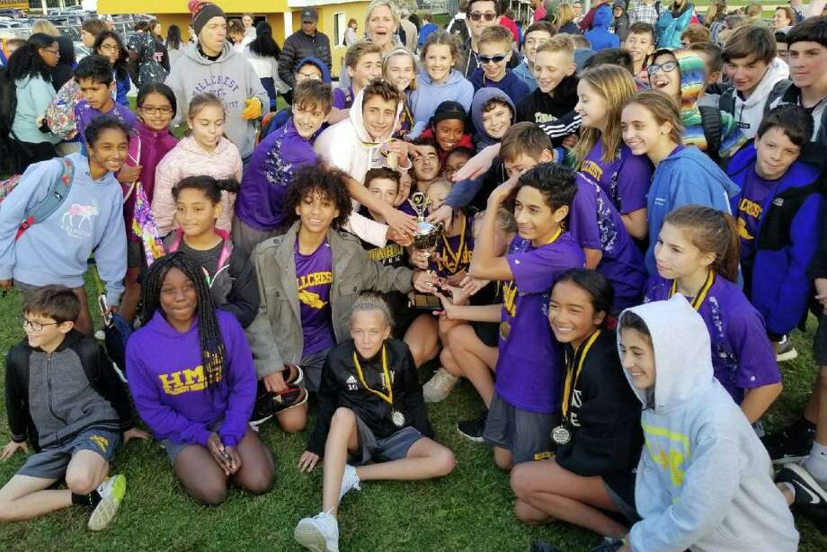 Hillcrest and Madison Middle School cross country runners competed for the town title. Photo: Contributed Photo / Hillcrest Middle School / Trumbull Times