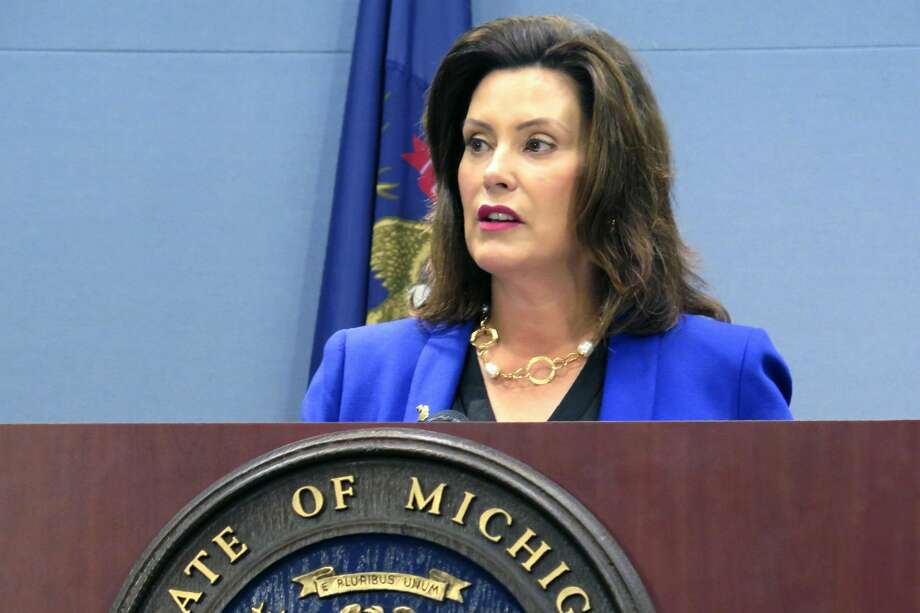 Republicans who control Michigan's Legislature say the state budget will not be resolved until Whitmer agrees to restrict her unilateral power to shift money within departments. Photo: (AP Photo/David Eggert, File) / Copyright 2019 The Associated Press. All rights reserved.