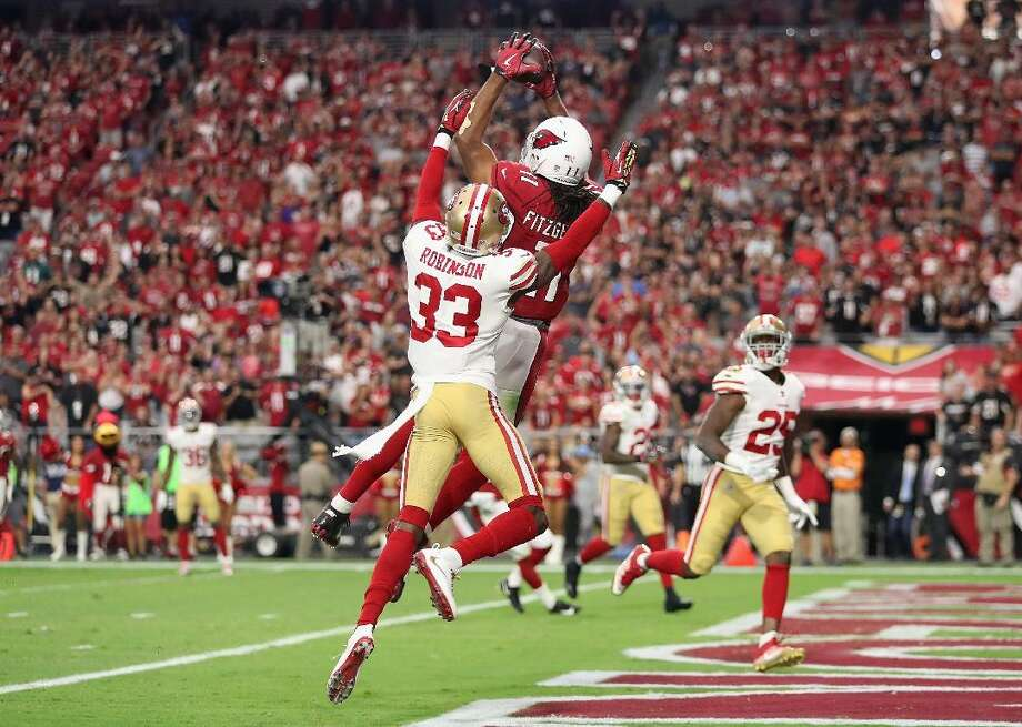 San Francisco 49ers (7-0) @ Arizona Cardinals (3-4-1) - Gametime: Thursday, Oct. 31, 8:20 p.m. EST The NFC West has been the best division in all of football this season, with three of its four teams sitting above .500. The Cardinals, while in last place, have been a decent surprise after starting the season 0-3-1. They had their three-game winning streak snapped by one of the NFC's best teams, the New Orleans Saints, as NOLA returned its Hall of Fame QB to the lineup. Brees didn't skip a beat in his 373-yard, three-touchdown performance after missing more than five games recovering from a thumb injury. The division's best team, the undefeated San Francisco 49ers, might also be the best team in all of football. Nearly all of the Niners' victories have come in dominating fashion, with Week 8's 51-13 win over the Carolina Panthers being the most impressive display yet. The defense, which ranks #1 in yards surrendered per game at just 224.4, has been astronomically good. Rookie Nick Bosa might already have NFL Defensive Rookie of the Year honors locked up, but he's making a strong case for Defensive Player of the Year as well. His Week 8 performance included three sacks and an interception he nearly took to the house. San Francisco is a heavy road favorite, and they should be. They've shown no signs of faltering thus far, and the Cards are far from a formidable opponent. The Kenyan Drake acquisition will help them for the remainder of the season, but the move only supplements injuries to running backs David... Photo: Christian Petersen // Getty Images