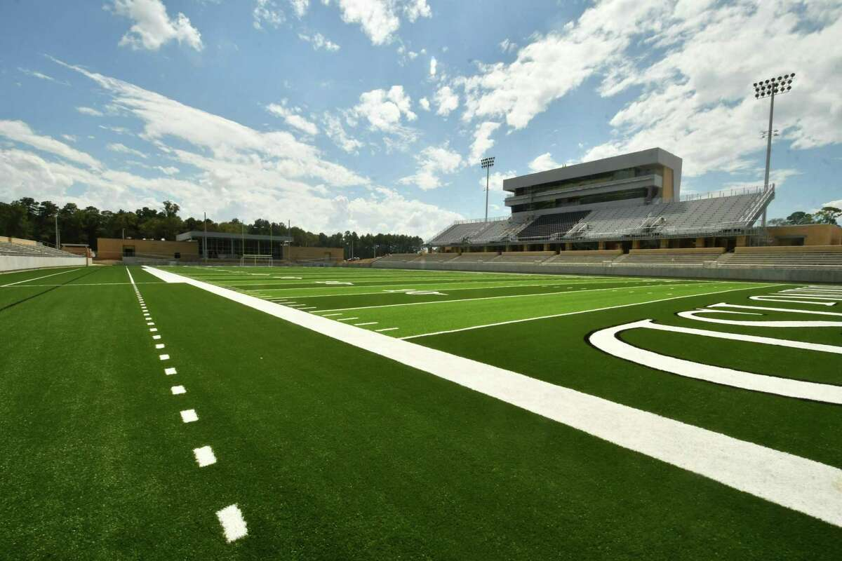 A view of Spring ISD's new Planet Ford Stadium.