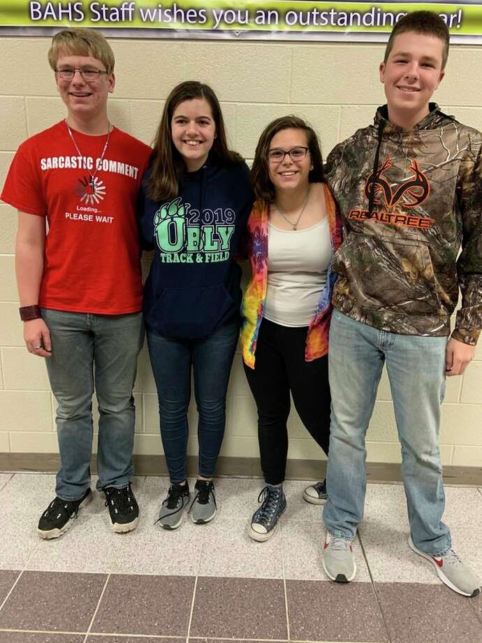 Ubly High School Quiz Bowl Team took first place at the Bad Axe Tournament on Oct. 24. (Submitted Photo)