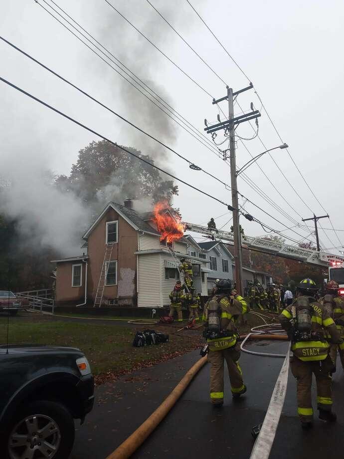 Two-alarm fire in West Haven Photo: TJ Biroscak II