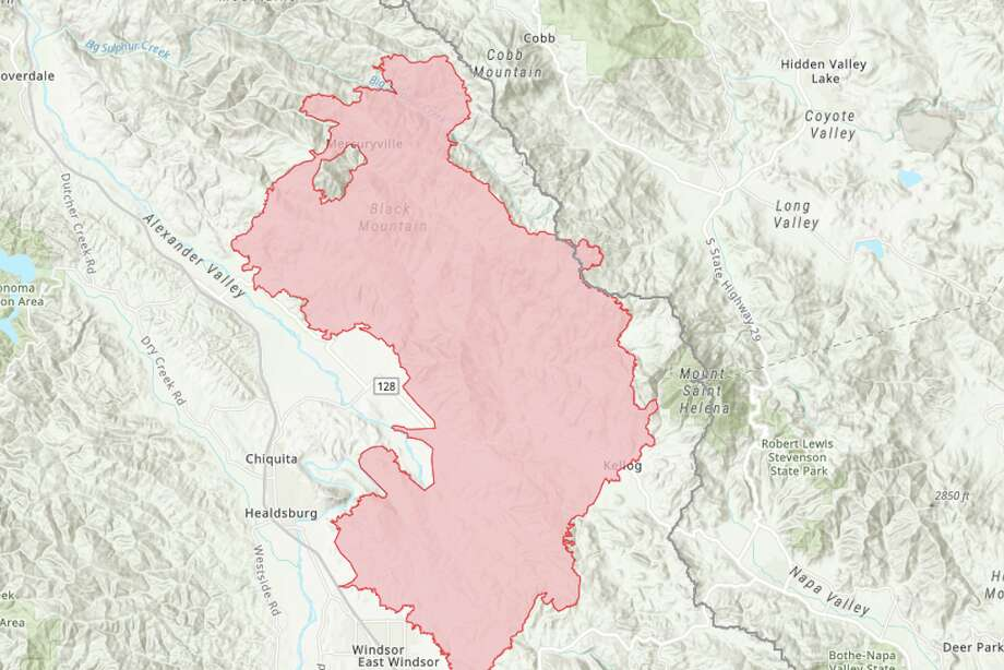 sonoma county wildfire map Maps Kincade Fire Continues To Burn In Sonoma County Sfgate