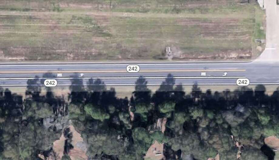 A man died while walking Oct. 24 on State Highway 242 after he was hit by a tractor trailer. Photo: Courtesy Of Google Maps