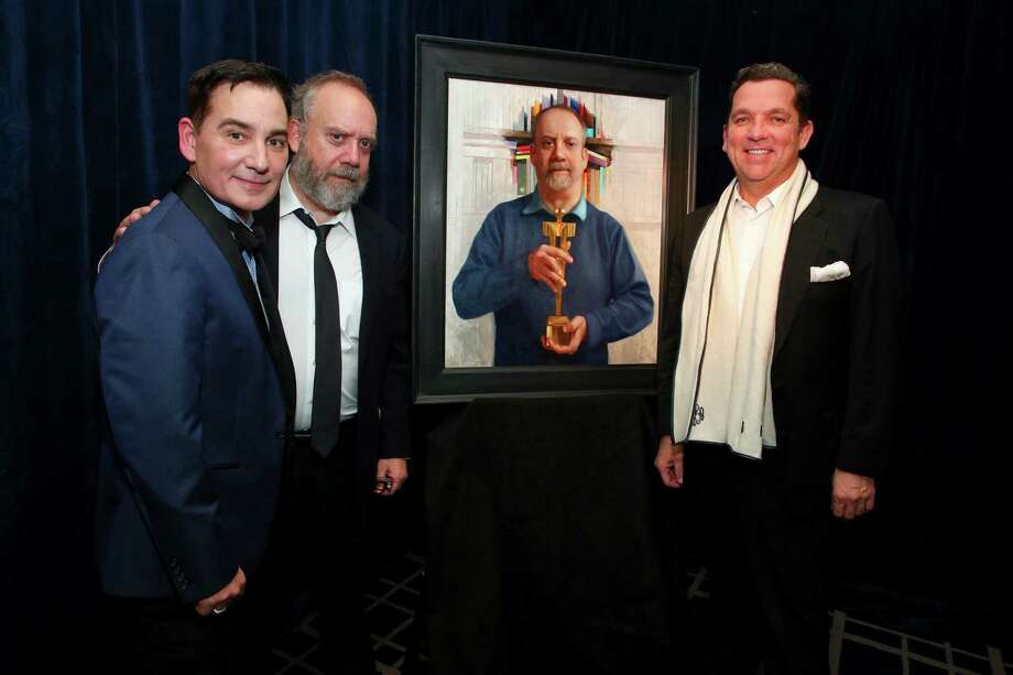 Graydon Parrish, Paul Giamatti and Tony Buzbee attend the unveiling of Paul Giamatti Fundraiser for the Denali Foundation at the Yale Club on October 24, 2019 in New York City. Photo: Astrid Stawiarz, Getty Images For The Denali Foundation / 2019 Getty Images