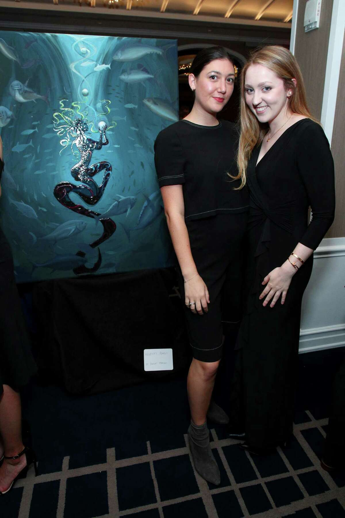 Lucy Grebin and Liz Buzbee attend the unveiling of Paul Giamatti Fundraiser for the Denali Foundation at the Yale Club on October 24, 2019 in New York City.