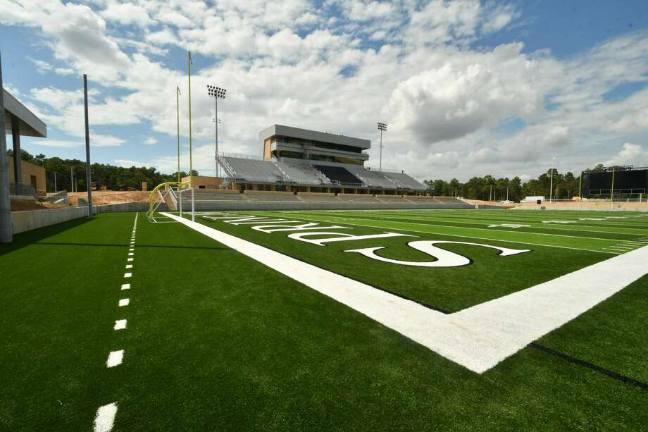 An inside view of Spring ISD's new district stadium, Planet Ford Stadium. Photo: Courtesy Of Spring ISD