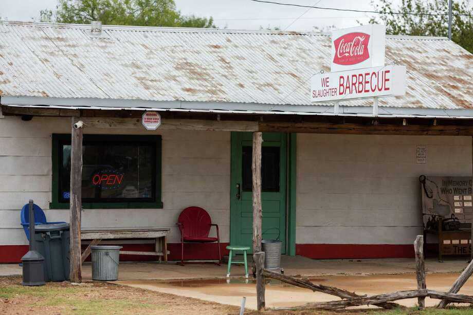 """The Gas Station in Bastrop is famous for its appearance in the cult horror classic, """"The Texas Chain Saw Massacre."""" Today, it also serves barbecue and sells horror-related merchandise. Oct 11, 2019.  REUTERS/Spencer Selvidge Photo: SPENCER SELVIDGE / The San Antonio Express-News"""