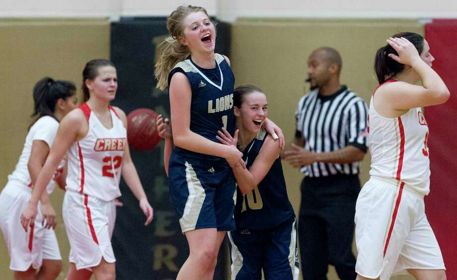 Lake Creek guards Makenzie Logeman (1) and Collette Taylor (10) are two players back for the Lions as they begin their second season. Photo: Jason Fochtman, Houston Chronicle / Staff Photographer / © 2018 Houston Chronicle