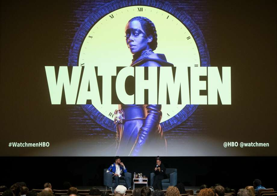 """Tirhakah Love, left, and Regina King attend the San Francisco premiere of """"Watchmen"""" from HBO on October 29, 2019 in San Francisco, California. Photo: FilmMagic/FilmMagic For HBO"""