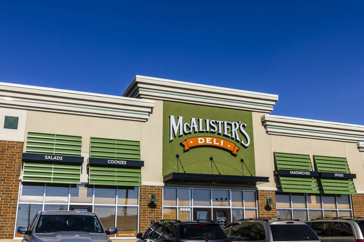 McAlister's Deli  Costumed kids 12 and younger eat free with the purchase of a dine-in, adult entree. The offer is limited to two kids meals per adult meal.