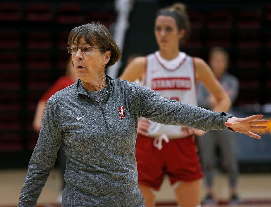 Head coach Tara VanDerveer leads No. 8 Stanford against Utah in Salt Lake City at 6 p.m. Friday (Pac-12 Networks). Photo: Paul Chinn / The Chronicle 2019