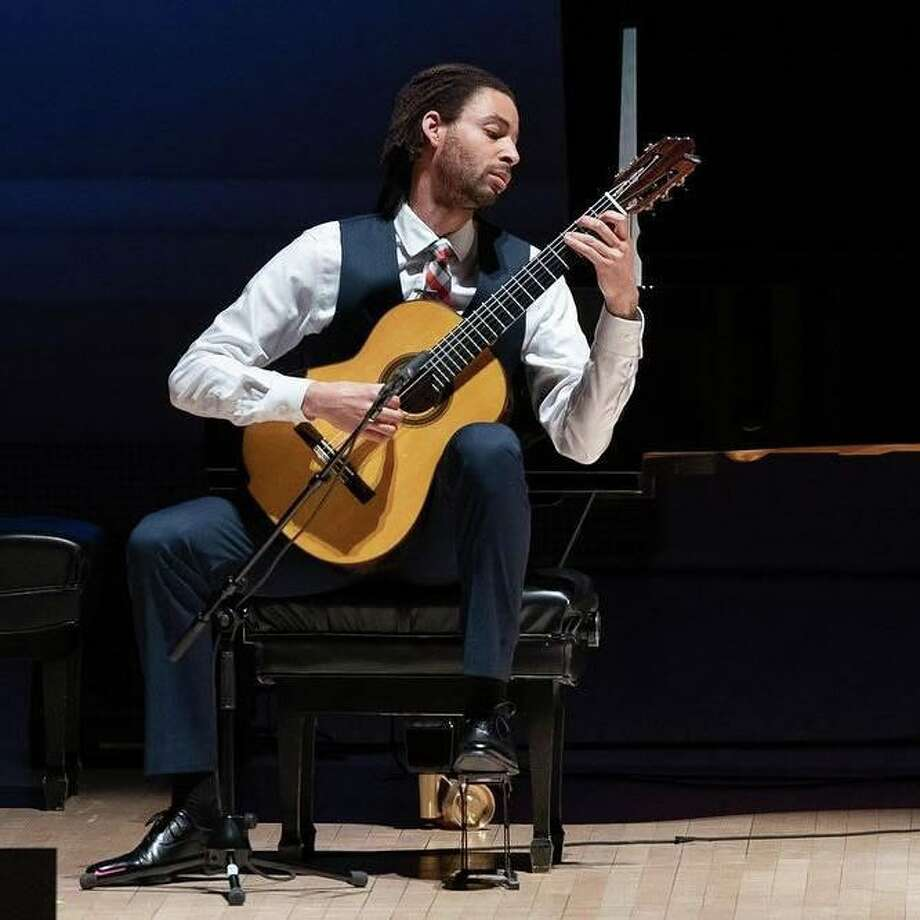 "The Stamford Symphony is performing ""A Dance With Spanish Guitar,"" featuring guitarist Thomas Flippin, pictured, and guest conductor Steve Hackman, November 16-17 at Stamford's Palace Theatre. Photo: Facebook"