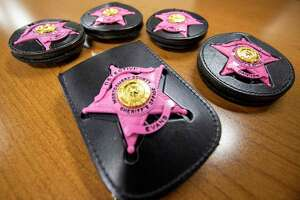 The Montgomery County Sheriff's Office wore pink badges through October in support of Breaast Cancer Awareness Month. The badges were paid for by the wearers of the badge and a portion of the proceeds was donated to the National Breast Cancer Foundation.