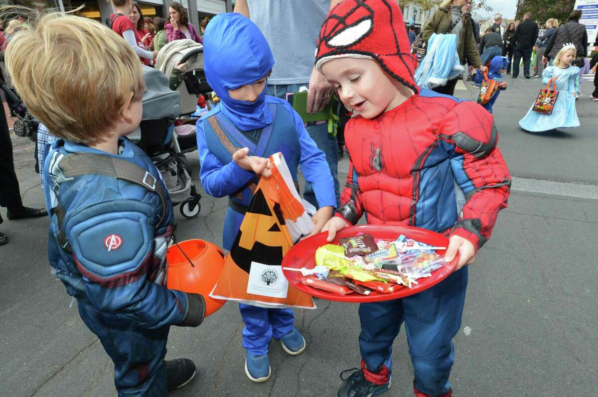 The Westport Parks and Recreation Department, The Downtown Merchants Association and Westport P.A.L. annual Halloween Parade in downtown Westport Conn. on Thursday October 26, 2017