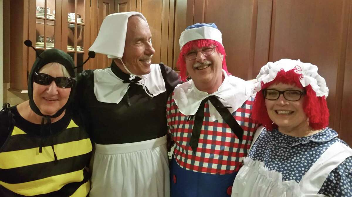 From left, Yvonne and Chip Brown with Frank and Marsha Whitman dressed up for Halloween.